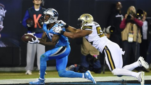 Ted Ginn hauls in 40-yard touchdown reception against the New Orleans Saints.