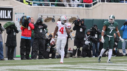 Curtis Samuel scores against Michigan State.
