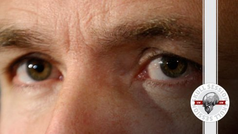 Urban Meyer's eyes watch the November 21st Skull Session