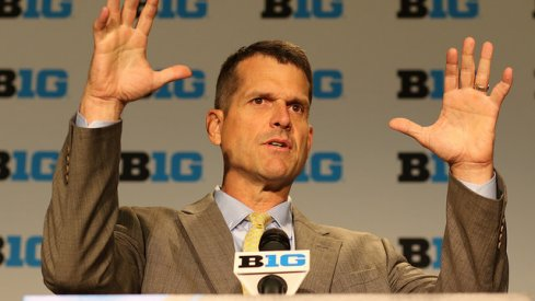 Jim Harbaugh at Big Ten Media Days.