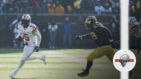 Braxton Miller beats No. 69 to the pylon for the November 22nd 2016 Skull Session.