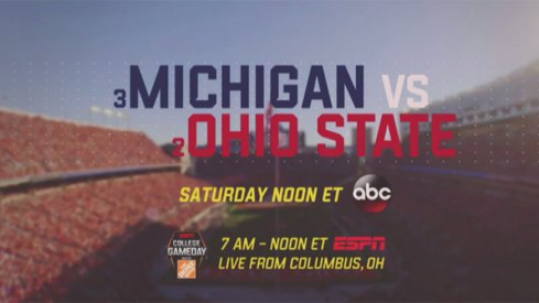 ESPN's coverage of the Ohio State–Michigan game will dominate the network this week.