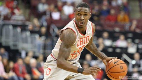 Ohio State's Kam Williams dribbles up the floor vs. Western Carolina.
