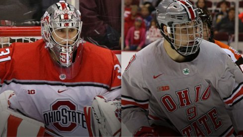 Ohio State's Matt Tomkins and Tanner Laczynski claimed two more Big Ten Stars for the Scarlet and Gray.