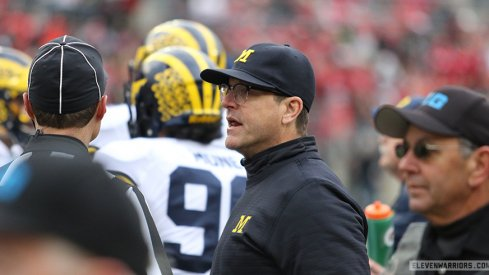 Jim Harbaugh is mad.