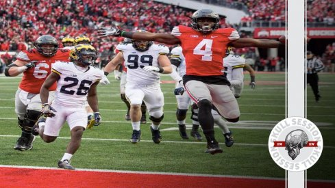 Curtis Samuel hits a stiff-arm for the November 27th 2016 Skull Session