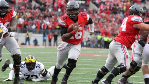 The Ohio State Captain picked up 157 yards on 30 carries in the biggest game of his career