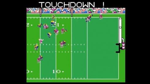 Curtis Samuel scores a touchdown in Tecmo Super Bowl.
