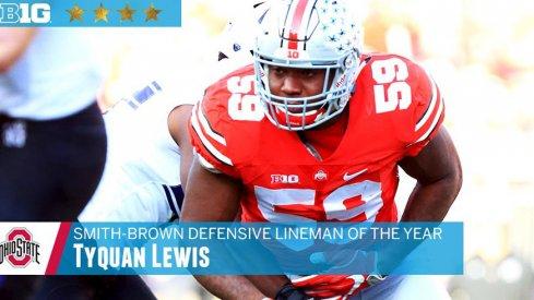 Tyquan Lewis is the Big Ten defensive lineman of the year.