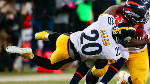 Will Allen makes a tackle in the playoffs.