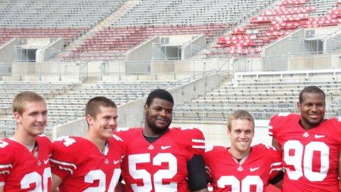 All smiles at Ohio State 2011 media days.