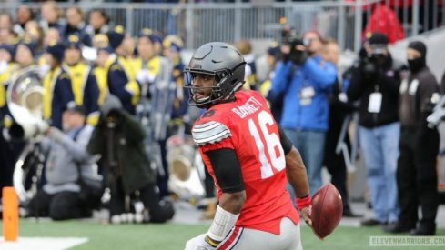 J.T. Barrett struggled early and got hot late on the way to 249 total yards and a pair of scores as Ohio State again dumped Michigan.