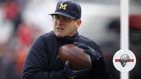 Jim Harbaugh is incredulous about the November 28th 2016 Skull Session