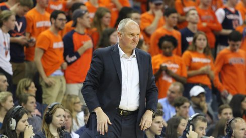 Ohio State coach Thad Matta on the sideline at Virginia.