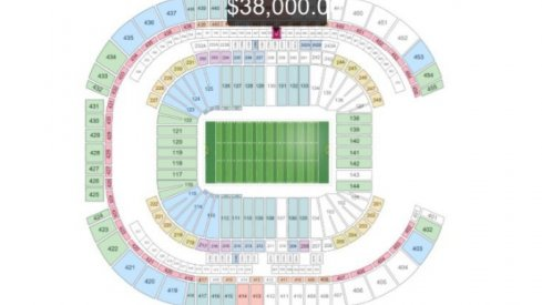 The most expensive Fiesta Bowl ticket.