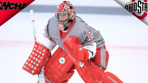 Ohio State goaltender Kassidy Sauve is the WCHA's Defensive Player of the Week.