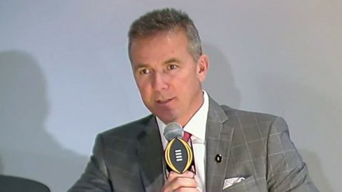Urban Meyer spoke in Atlanta at the College Football Hall of Fame at a joint press conference with the other coaches that made the Playoff.