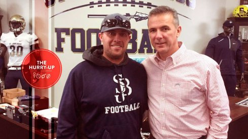 Urban Meyer and St. John Bosco head coach Jason Negro