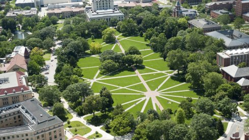 the Oval at the Ohio State University campus in Columbus