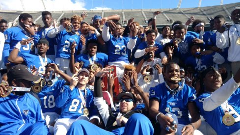 Shaun Wade and Trinity Christian won their fourth-straight state title on Saturday