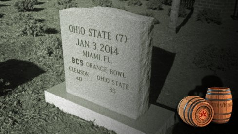clemson's graveyard tradition includes a headstone for its 2014 orange bowl win over ohio state