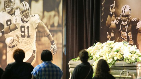 The scene at the funeral for former Buckeye Will Smith, murdered in New Orleans.