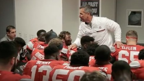 Urban Meyer addresses the media following Ohio State's 30-23 overtime win against Wisconsin.