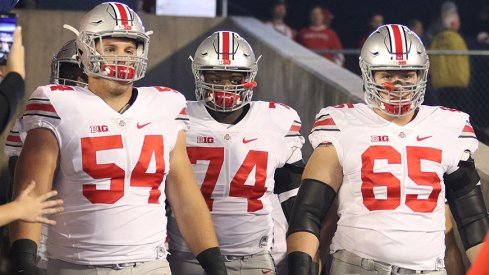 From left to right, Billy Price, Jamarco Jones and Pat Elflein