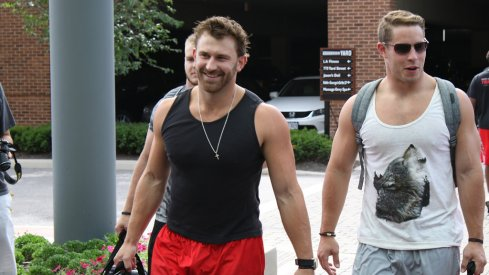 Craig Fada and Joe Burger check in to Ohio State fall camp.