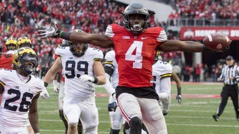 Curtis Samuel scores game-winning touchdown against Michigan.