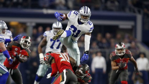 Former Ohio State and current Dallas Cowboys running back Ezekiel Elliott, who earned a 2017 Pro Bowl invite.