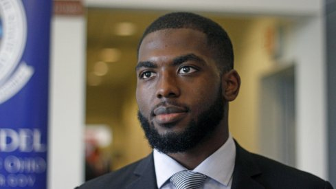 J.T. Barrett in June 2016 entering an off-season event at Ohio State.
