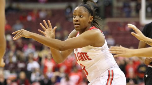 Kelsey Mitchell led all scorers as Ohio State routed Winthrop.