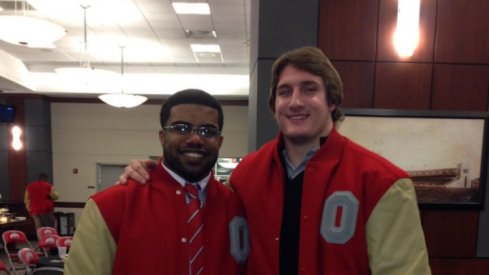 Ohio State's Joey Bosa and Ezekiel Elliott after earning their first letter at Ohio State.