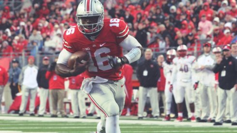 J.T. Barrett accounts for 27% of Ohio State's rushing yards through 12 games in 2016.