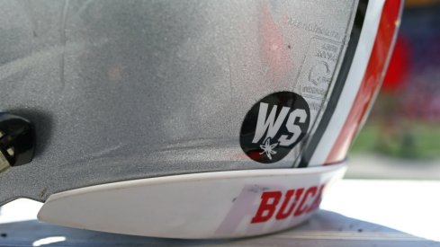 ohio state's helmet sticker in remembrance of will smith
