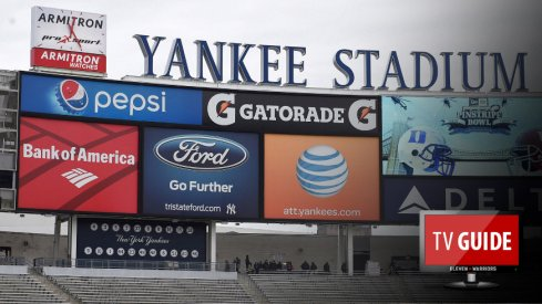 Dec 26, 2015; Bronx, NY, USA; General view of the video board prior to the start of the 2015 New Era Pinstripe Bowl between the Indiana Hoosiers and the Duke Blue Devils at Yankee Stadium. Mandatory Credit: Rich Barnes-USA TODAY Sports