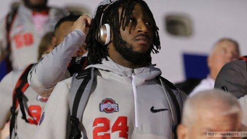 Ohio State safety Malik Hooker arrives in Arizona.