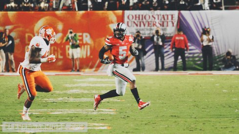 braxton miller en route to a TD in the 2014 Discover Orange Bowl