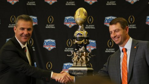 Urban Meyer and Dabo Swinney are close but the latter still has a giant hole in his coaching resume.