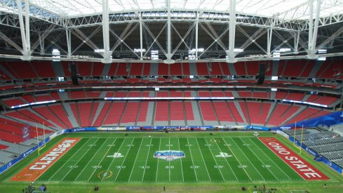 First look at the field Ohio State and Clemson will play on in the Fiesta Bowl at University of Phoenix Stadium.