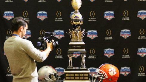 The Fiesta Bowl Trophy in Scottsdale, Arizona.