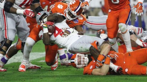 Ohio State managed just 88 yards rushing against Clemson in the Fiesta Bowl.