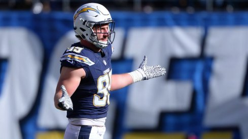 Former Ohio State great and current San Diego Charger Joey Bosa joins Dwight Freeney.