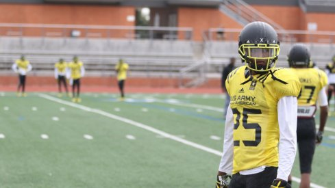 Shaun Wade at U.S. Army All-American Bowl practice.