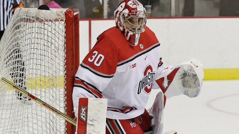 Ohio State goaltender Christian Frey stopped 46 shots in his shutout of No. 2 Penn State.