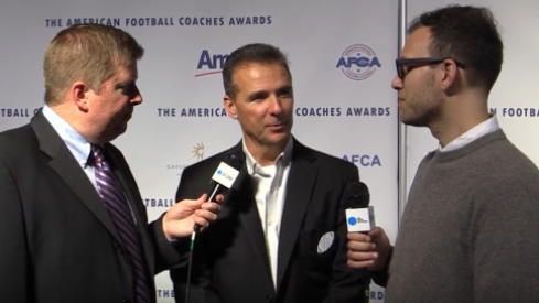 Urban Meyer spoke to USA Today and The Tennessean on Ohio State's offensive staff changes on Tuesday at the American Football Coaches Association awards ceremony.