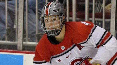 Ohio State defenseman Drew Brevig and the Buckeyes are looking for another win.