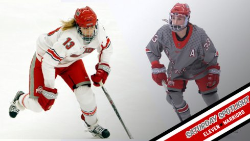 Meet Jessica and Jincy Dunne, who patrol the blue line for the Ohio State women's ice hockey team.
