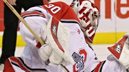 Ohio State goalie Christian Frey is Big Ten Hockey's Third Star of the Week.